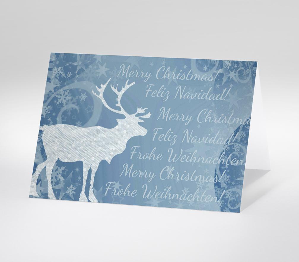 Winterliche Weihnachtsgrüße.Weihnachtskarte
