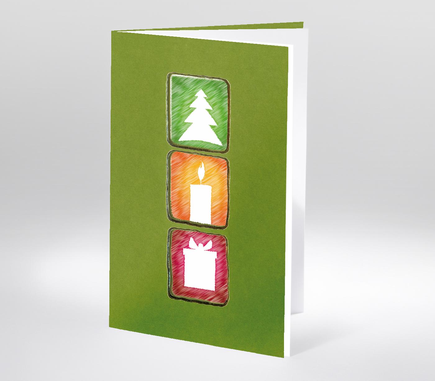 Moderne Weihnachtskarten.Moderne Weihnachtskarte